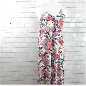 Lucky Brand lucky lotus pink floral maxi dress